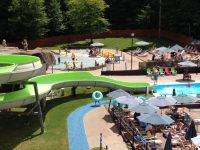 View from top of slide at Mountainside Water Park. Credit: Janet Franz