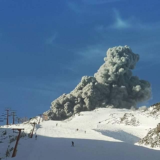 Volcano Erupting On Ski Hill?  No Problem.