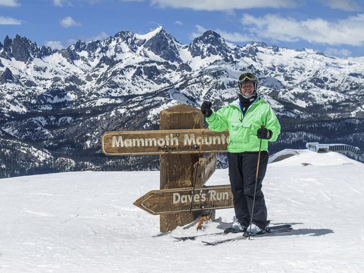 627d4378c10 Correspondent Yvette Cardozo decked out in Obermeyer plus size ski wear at  the top of Mammoth