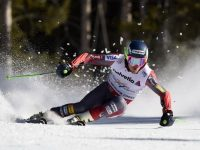 Note arms elevated and away from the body, a key to stability and balance.  That's Ted Ligety, by the way.