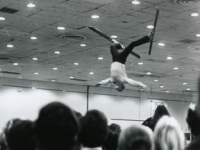 Flipping out at a 60s ski show.