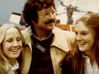 SKIING magazine editor and ski legend Doug Pfeiffer at the show sometime in the early 70s.