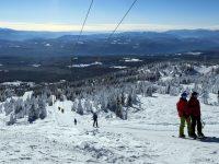 The Alpine T-Bar serves low-angle intermediate terrain near the 7,606-foot summit of Big White. Credit: John Nelson