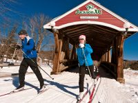 Jackson's famous covered bridge, a symbol of this charming New England town. Credit: Jackson Ski Touring Foundation.