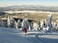 Skiing fresh powder at Brundage Mountain. Credit: Brundage Mountain.