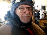 Fred Frost, 74, skis 35,000 - 40,000 vertical daily.
