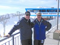 Marc,71, left, and brother Scott, 61 at top of Snowbird Tram