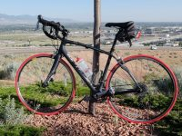 Find out what Harriet thought about these tubeless, foam-filled tires. Credit: Harriet Wallis