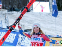 Mikela Shiffrin wins the FIS World Cup over Thanksgiving Weekend at Killington. She's an inspiration and a role model for young skiers everywhere. Credit: FIS