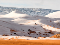 On January 7, snow fell on one of the hottest deserts on earth.  Credit: Karim Brouchetata/ Geoff Robinson