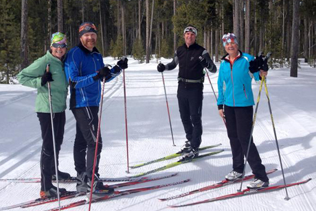 cdfb522a130 Wearing the right apparel for cross country skiing can keep you warm and  comfortable.