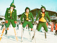 Brodie Mtn, MA, ground zero for St. Patrick festivities, circa 1970. Credit: NewEnglandSkiHistory.com