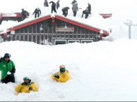 Mammoth Mountain extended the season after 16 FEET of snow in March. Credit: Unofficial Networks