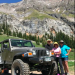 Jeep, Jon, Pam, and April high above Our, Colorado. Mark is behind the lens.