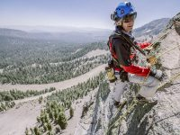 Climbing the Via Ferrata at Mammoth Mountain Ski Area.Credit: Peter Morning, Mammoth Mountain Ski Area.