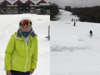 From Reader Alyce Perez: In the 41 years that I have skied, it is the first time I have ever skied in October. Mount Snow's earliest opening day in 64 years. Another first to add to my bucket list.