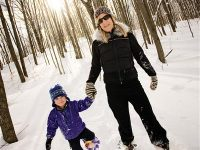 A little planning goes a long way when snowshoeing with kids. Credit: Crystal Mountain