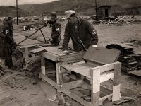 German POWs making shingles at Camp Hale, CO, circa 1943-46. Credit: Colorado SnowSports