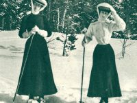 Mystery Glimpse: Who's Skiing In Skirts?