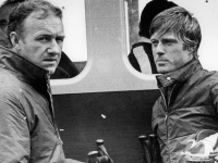 "Gene Hackman and Robert Redford in ""Downhill Racer"" (1969). This heart throb loved to ski."