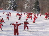 Yikes, here come the Santas! Credit: EasternSlopes.com