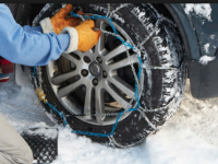 Safe Driving: Wrap Tires With Chains