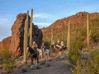 Riding the foothills of the Tucson Range. Credit: White Stallion Ranch