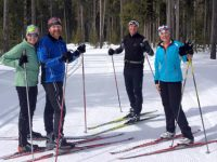 Contemporary nordic ski togs are lightweight, warm, and more athletic looking than Alpine gear. Credit: Roger Lohr
