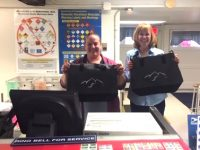 Postmasters Andrea and Brenda at the little country PO were so helpful in mailing tote bags. Thanks so much.