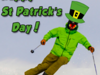 Wear your green next week.  Happy Paddy's Day.  Is he still a saint?