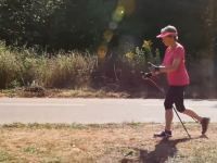 Add Nordic walking to your virus-beating activities to stay in shape.