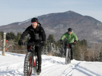 Fat biking at Kingdom Trails, VT