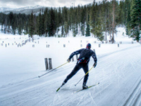 Skate skiing has its own techniques and gear. Credit: HuffPost Canada