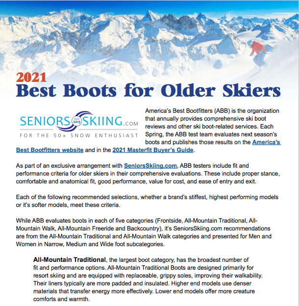 2020-21 Best Boots For Seniors