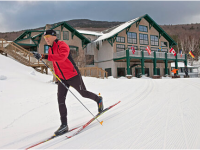 XC resorts like  Great Glen Trails in NH offer groomed trails, lodge, instruction.