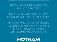 This is an online message from Mt. Hotham, a popular Australian ski resort the eventually closed for a good portion of the season this year. Could we be seeing these messages here?