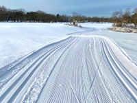 Freshly groomed XC trails last longer. Credit: North Shore Nordic Association