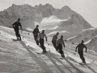 Kruckenhauser was a ski photographer as well as a pioneer of the Austrian technique.  This photo is by him.