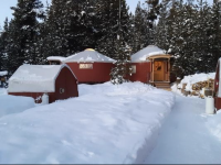 Yurts and heated tent cabins accommodations in remote corner of Yellowstone.