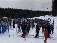 "Breckenridge lift line in Dec 2020 when the resort had ""significantly reduced capacity."""