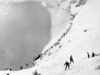 Sign of spring: Tuckerman Ravine, 1938. Credit: Mt. Washington