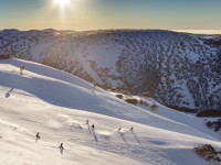 Mt Hotham in mid-season. This year, the resort awaits eager visitors after closing in 2020.